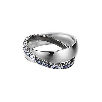 Esprit Damen Ring Silber Zirkonia Pellet Heart ESRG91774A1