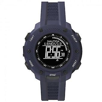 Nautica reloj relojes de pulsera de silicona de NAI19524G digital