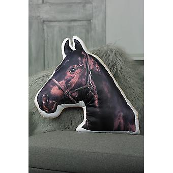 Adorable black horse shaped cushion