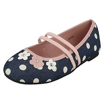 Piger Spot på flad Floral Ballerina sko H2431