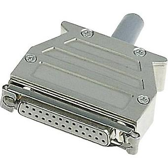 D-SUB housing Number of pins: 37 Plastic, metallised 180 ° Silver Harting 09 67 037 0453 1 pc(s)
