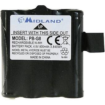 Midland Replaces original battery PB G6/G8 Walkie-talkie battery 4.8 V 800 mAh