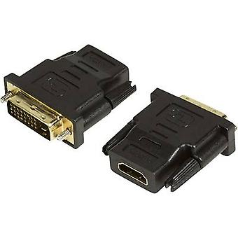 LogiLink HDMI / DVI adattatore [1 x presa HDMI - 1 x DVI connettore 25 poli] nero