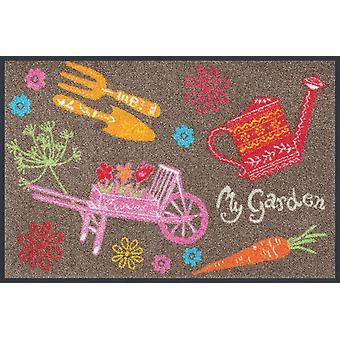 lavar + secar mi alfombra lavable de jardín 50 x 75 cm