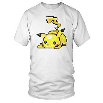 Pika Choo Pixel Pokemon Inspired Ladies T Shirt