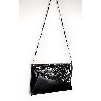 IKRUSH Womens Jade Pailletten verzierte Clutch-Tasche