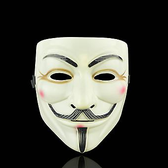 Anonimowa maska do twarzy Guy Fawkes - Żółto-Brązowy