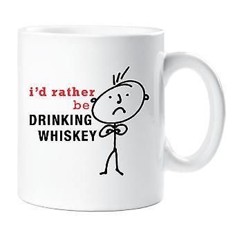 Mens I'd Rather Be Drinking Whiskey Mug