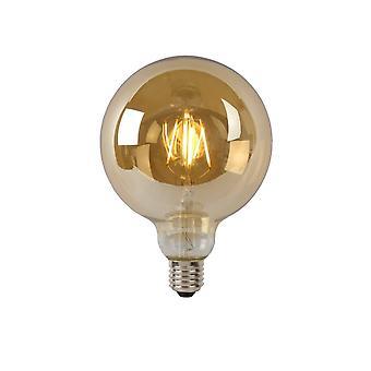 Lucide lampe LED G125 à incandescence E27/5W 400LM 2700 K ambre