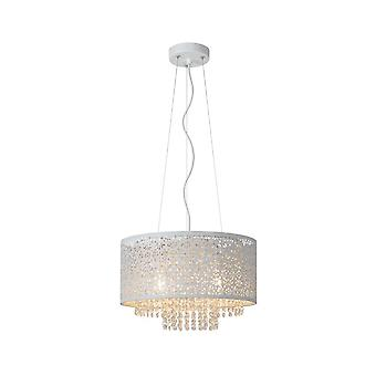 Raka Oriental lucide rond métal pendentif blanc lumière