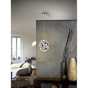 Schuller Narisa 18cm Chrome Modern Mirror Pendant Lamp