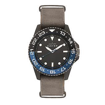 Elevón Dumont reloj correa de cuero-negro/gris