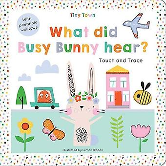 What did Busy Bunny hear? (Tiny Town Touch and Trace)