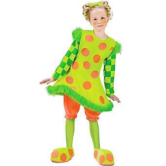 طفل صغير أخضر فتاة زي المهرج