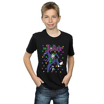 DC Comics Batman Joker Karten Sprung T-Shirt Boys