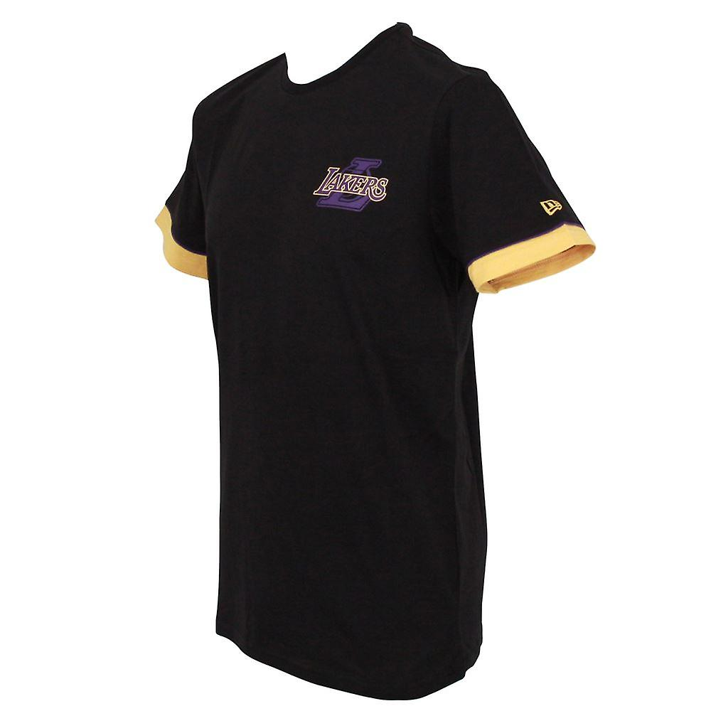 New Era NBA Stripe Piping T-Shirt ~ LA Lakers