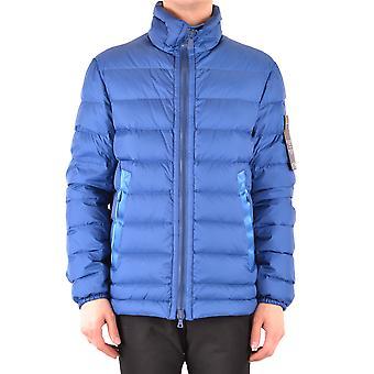 Peuterey Ezbc017119 Men's Blue Nylon Outerwear Jacket