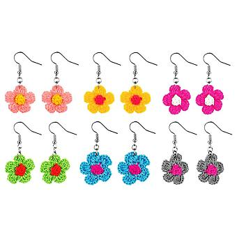 Crochet Cotton Flower Drop Earrings - Chosen at Random