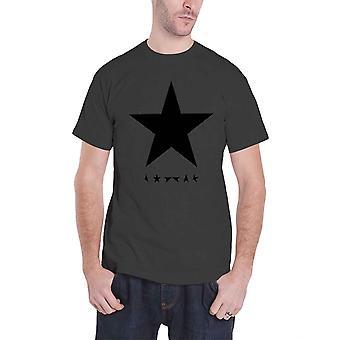 David Bowie T camisa banda Blackstar logotipo oficial Mens novo cinza de carvão
