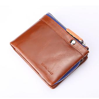 """Hautton Sports Leather Wallet 4.5"""" Pull Out Coin Section"""