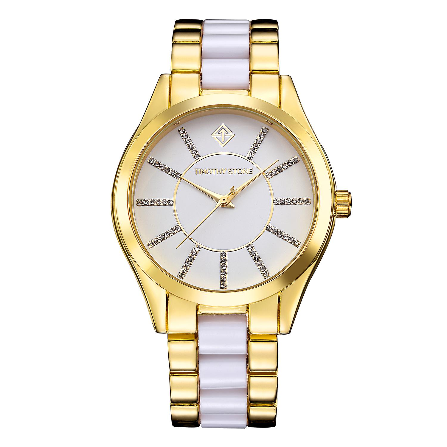 Timothy Stone Women's CHARME-BICOLOR Gold-Tone and White Watch