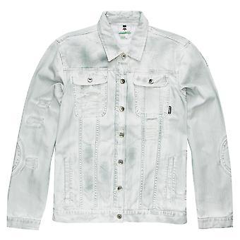 Lrg Destroyed Denim Jacket White