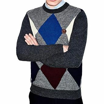 Fred Perry Shetland Wool Argyle Crew Neck Sweater K7228-829
