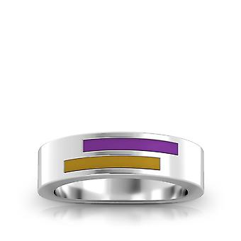 The Purple Heart Foundation Sterling Silver Asymmetric Enamel Ring In Purple and Gold