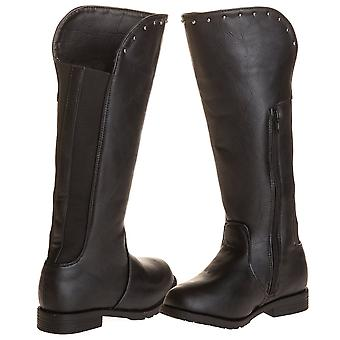 Sara Z Girls Studded Riding Boot With Elastic Back