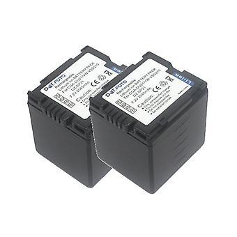2 x Dot.Foto Panasonic CGA-DU21, VW-VBD210 batteri - 7.2V / 2040mAh