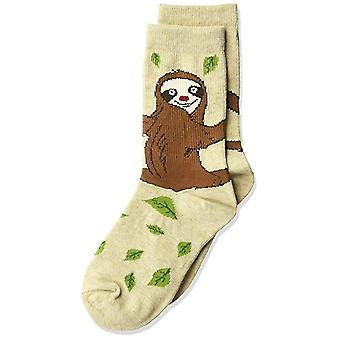 Kids's Crew Socks - K Bell - Sloth Oatmeal Heather (7-8.5)