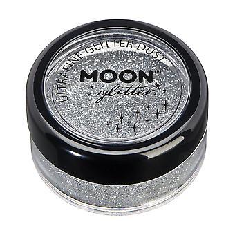Klassisk ultrafine glitter Dust by Moon glitter – 100% kosmetisk glitter til ansigt, krop, negle, hår og læber-5g-sølv