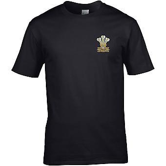Royal Welsh-licenseret British Army broderet Premium T-shirt