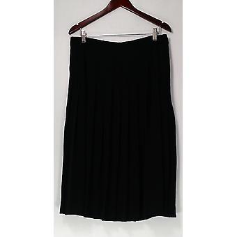 Du Jour Skirt Pleated Midi with Side Zipper Black A296452
