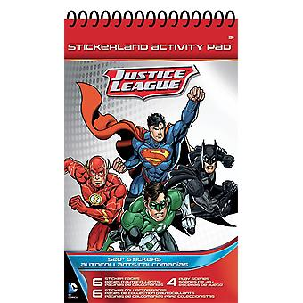 Stickerland Activity Pad - Justice League - 16 pages Toys Stationery New st9018