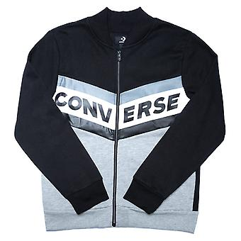 Junior Boys Converse fleece Chevron Varsity bomber jacka i svart