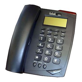Tél UK Venise Téléphone Caller ID téléphone - noir (18071B, Venise)