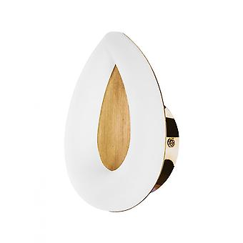 Mantra Juno Wall Lamp 5W LED 3000K, 450lm, Satin Gold/Frosted Acrylic/Gold, 3yrs Warranty