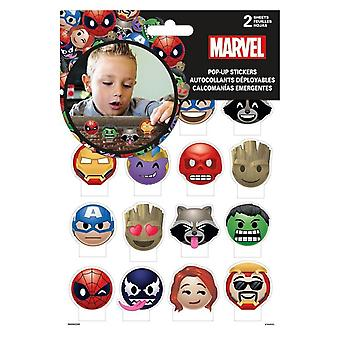 Marvel Emoji Pop Up Stickers - 2-Sheets