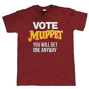 Vote Muppet, Mens Political Joke Camiseta - Brexit British Parliament Protest