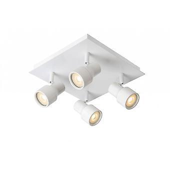 Lucide Sirene-LED Modern Square Metall weiß Spot Deckenleuchte