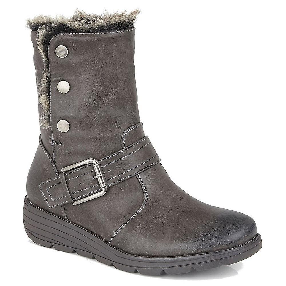 Cipirata Womens/ladies Faux Fur Coralla Ankle Boots