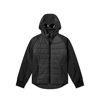 C.P. Company Undersixteen Black Quilted Goggle Soft Shell Jacket