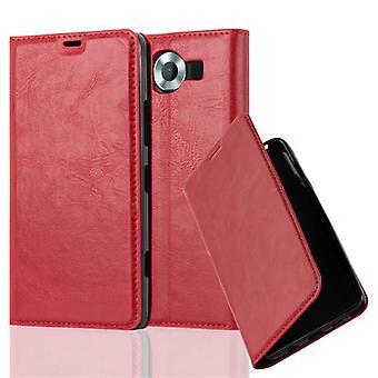 Cadorabo sag for Nokia Lumia 950 sag sag dække - telefon sag med magnetisk lås, stå funktion og kortrum - Sag Cover Beskyttende sag Bog Folding Style
