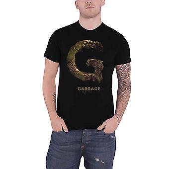 Garbage T Shirt Strange Little Birds Album cover Band logo Official Mens Black