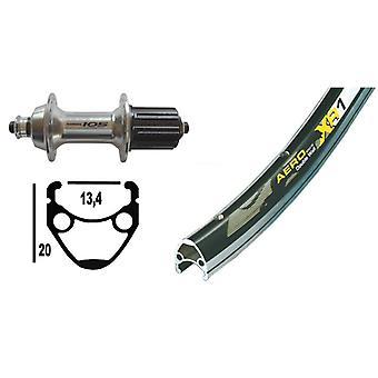 """אופניים-חלקים 28 """"גלגל אחורי Exal XR-1 + שימנו 105 10/11-מהירות (QR)"""
